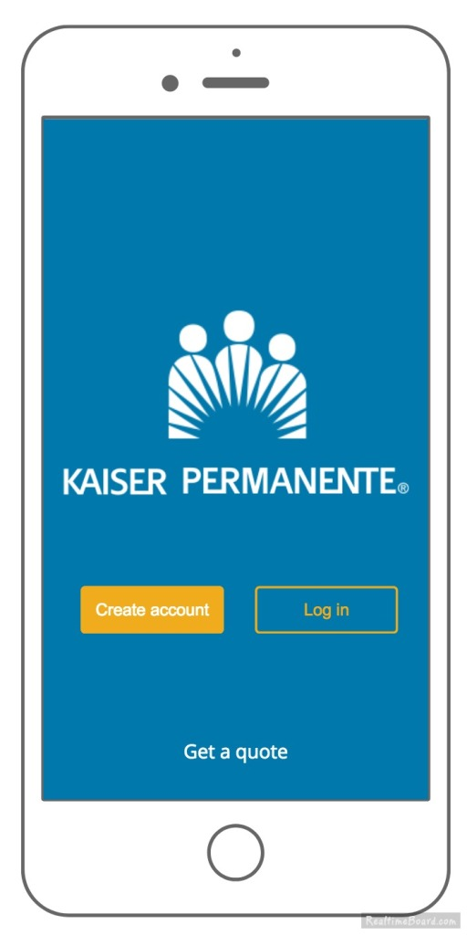 KP app login screen