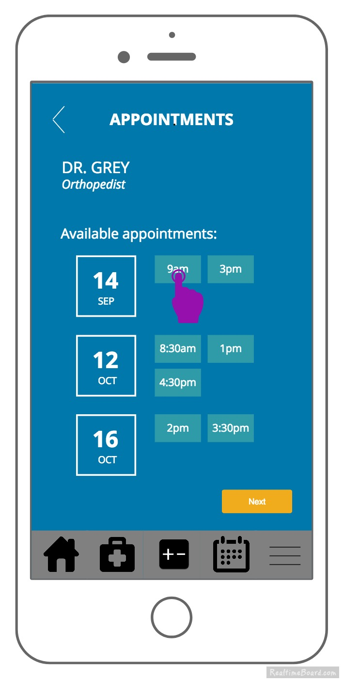 KP app appointment booking